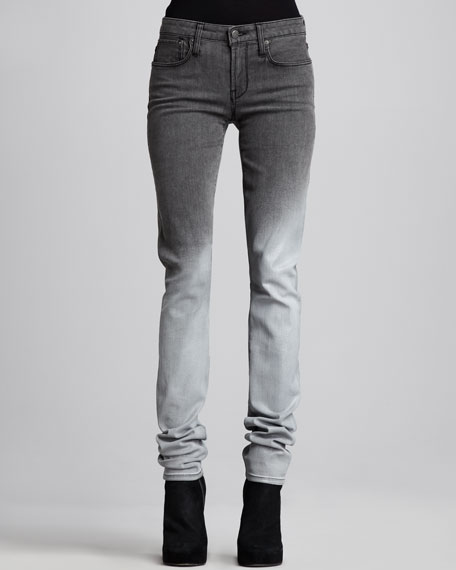 Ombre Faded Skinny Jeans