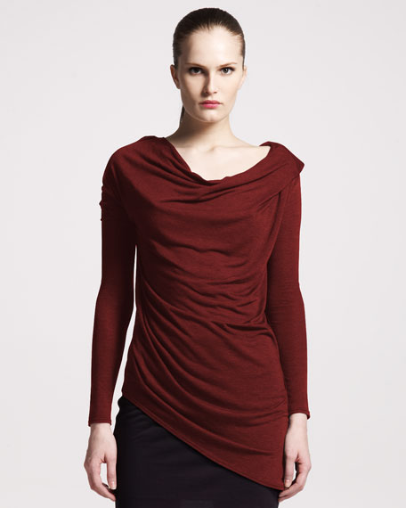 Kinetic Cowl-Neck Jersey Top