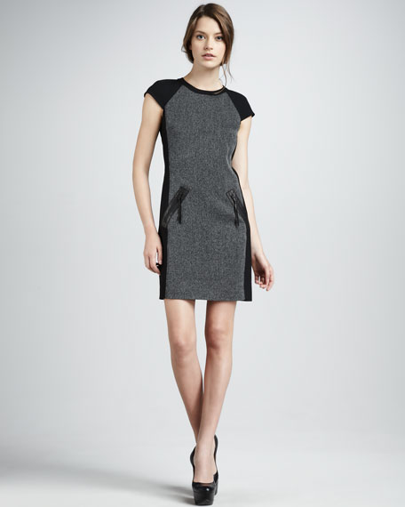 Paneled Suiting Dress