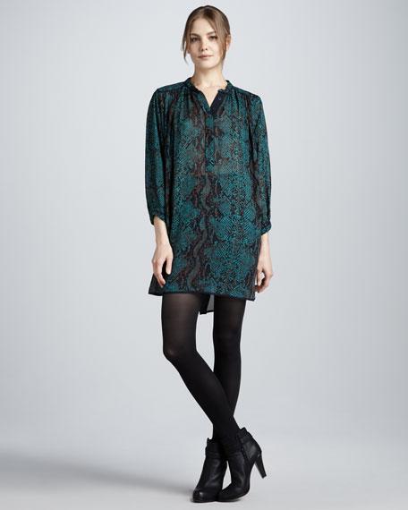 Python-Print Silk Dress