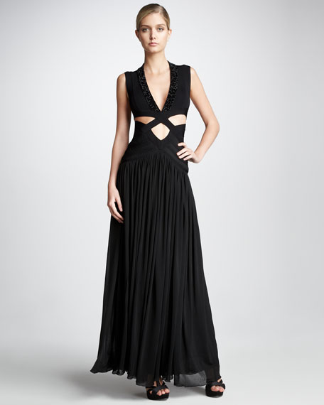 Cutout Bandage Gown