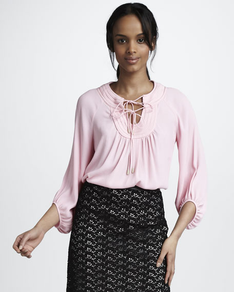 Acquilina Blouse, Candy Pink