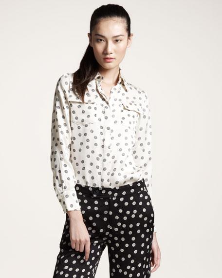 Yarn Ball-Print Shirt