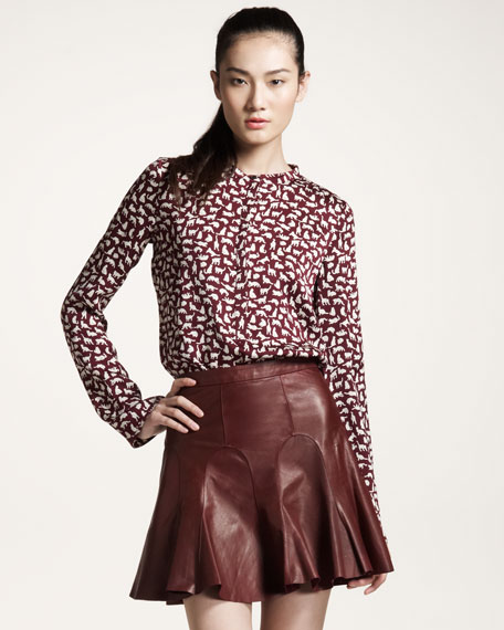 Leather Tulip Skirt