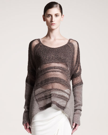 Textured Melange Sweater