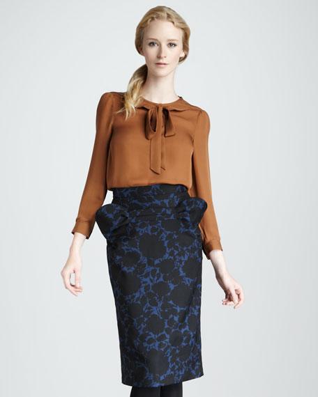 Onyx Floral-Print Skirt