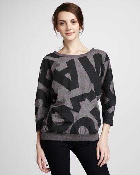 Jumbled-Logo Sweatshirt