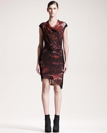 Midnight Floral-Print Dress