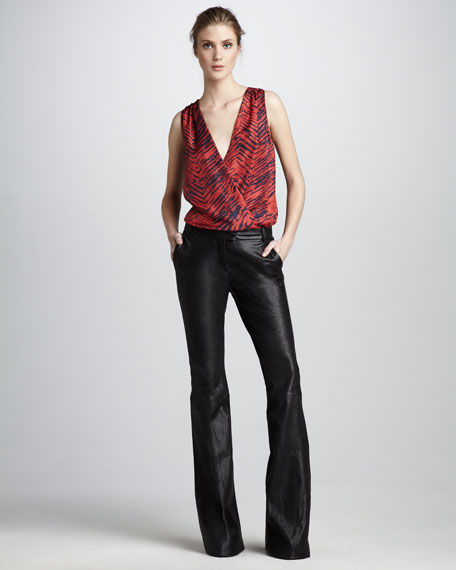 Hutton Flared Leather Pants