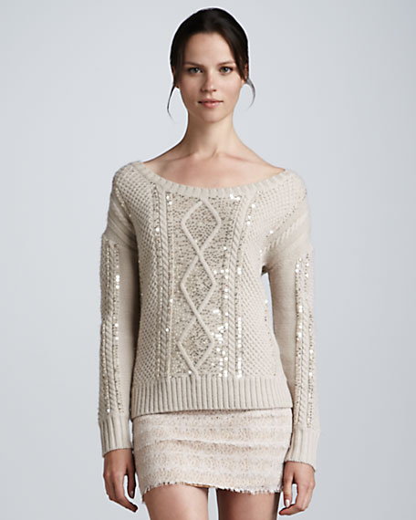 Aran Sequined Sweater