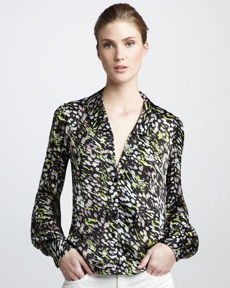 Dean Bishop-Sleeve Blouse