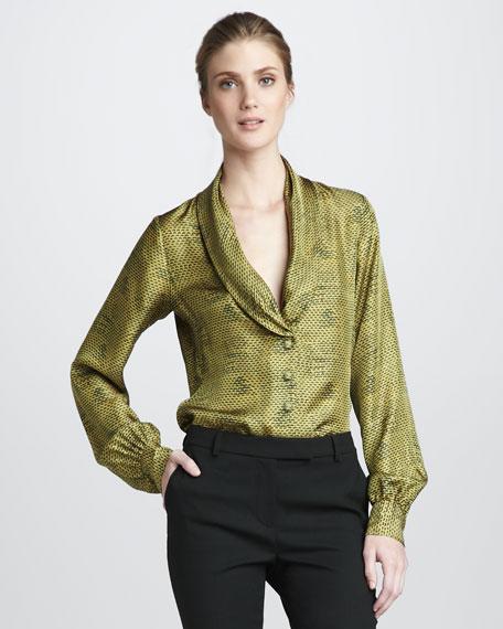 Eleanor Shawl-Collar Top, Scale