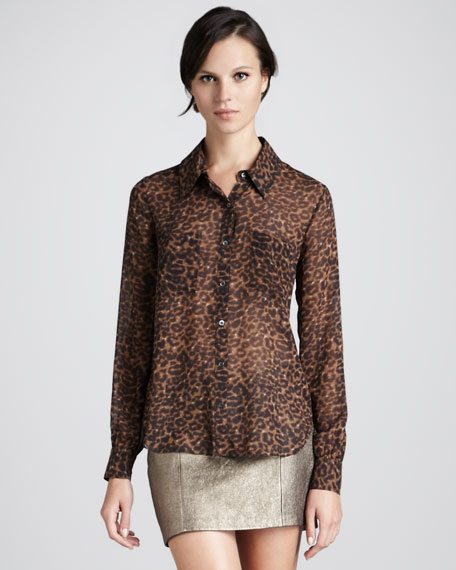 Sweet Emotion Leopard-Print Blouse