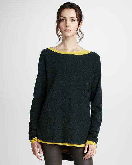 Shirttail-Hem Sweater