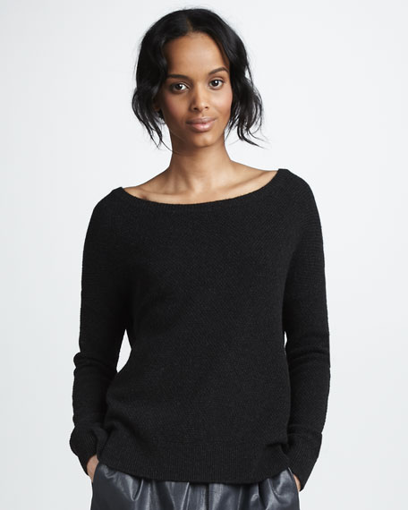 Side-Button Sweater