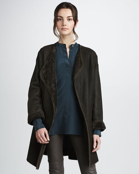 Merino Wool Cardigan Coat