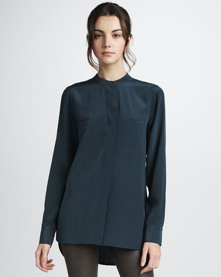 Two-Pocket Silk Shirt