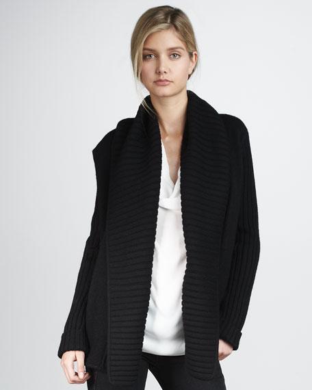 Ribbed Collar Jacket
