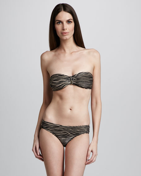 Metallic Zebra-Print Two-Piece