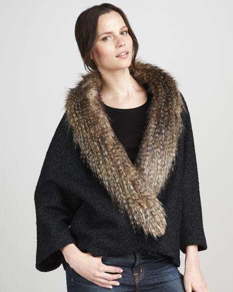 Almost Famous Faux-Fur-Trim Coat