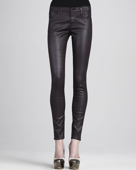 Faux-Leather Leggings, Blackberry