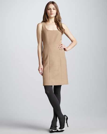 Azalea Square-Neck Woolen Dress