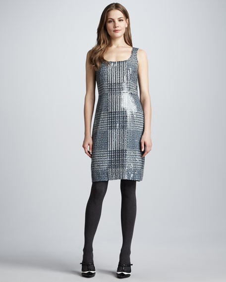 Bristol Sequined Houndstooth Dress