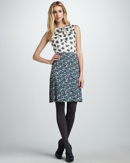 Cecilia Mixed-Print Dress