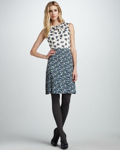 Cecilia Mixed-Print Dress