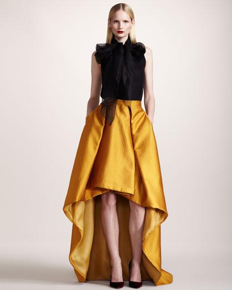 Basketweave High-Low Belle Skirt
