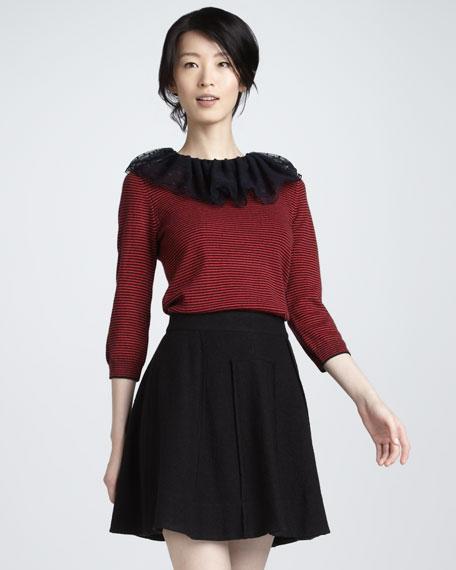 Blythe A-Line Wool Skirt