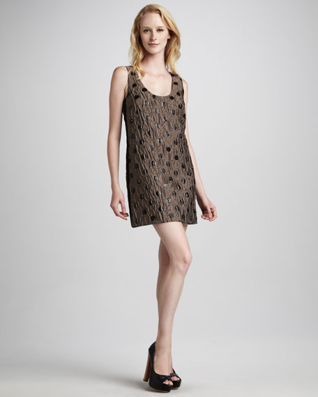 Clara Dot-Jacquard Dress