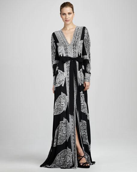 Printed Caftan Gown