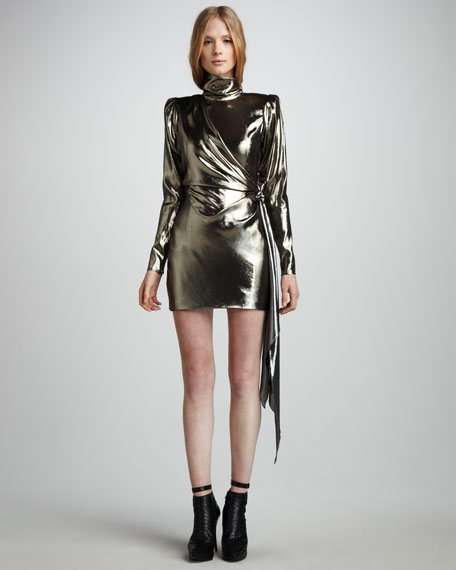 Helena Metallic Minidress