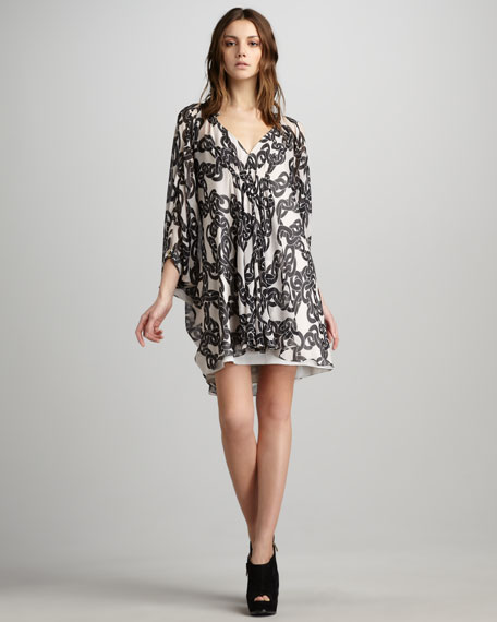 Fleurette Chain-Print Dress