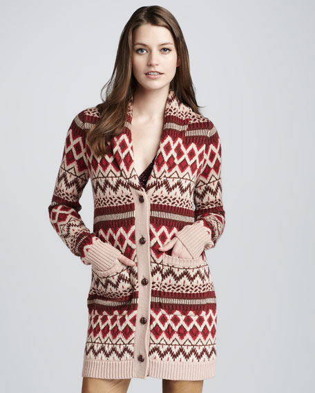 Fair Isle Sweatercoat