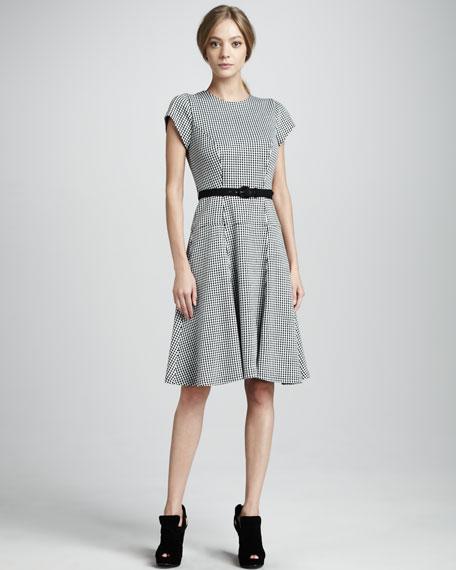 Huntswoman Houndstooth Dress