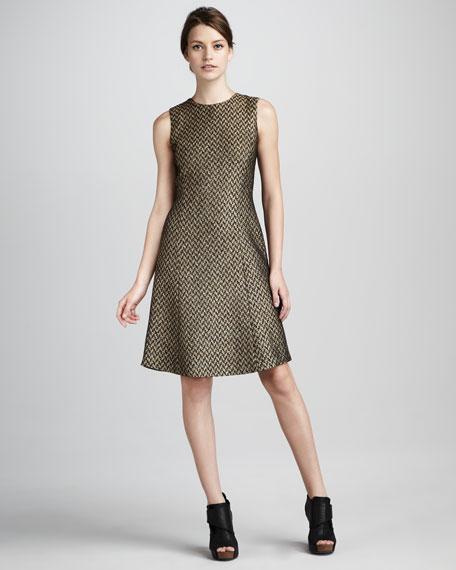 Daxie Houndstooth Tweed Dress
