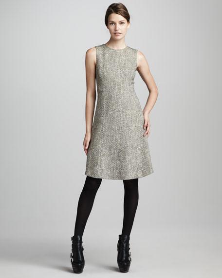 Sleeveless Tweed Dress