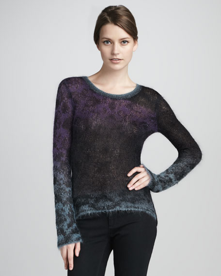 Knupa Ombre Knit Sweater, Black