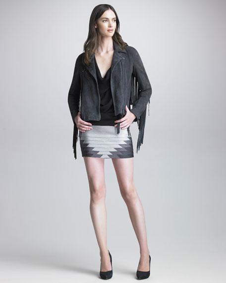 Geometric Bandage Miniskirt