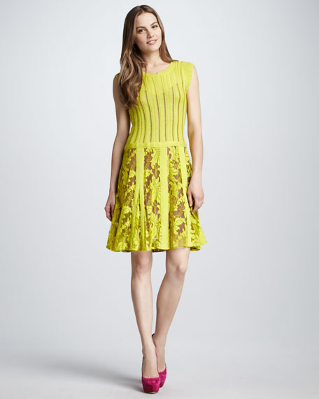 Enchanting Yellow Lace Dress