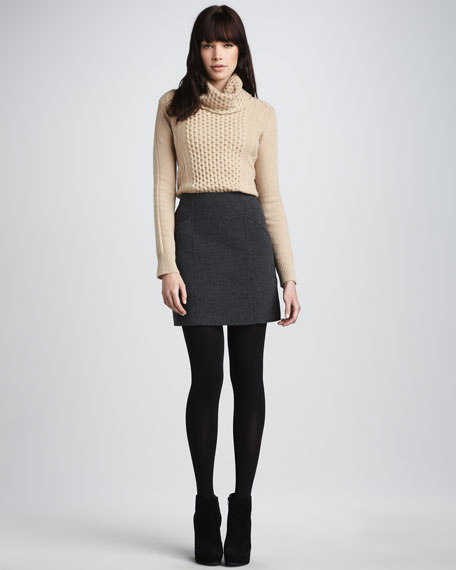 Hand-Sewn Stretch-Wool Skirt
