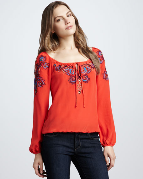 Aries Embroidered Blouse