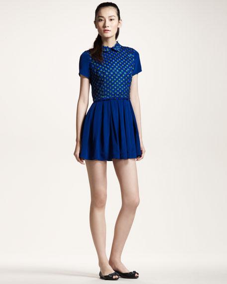 Bead-Front Dress