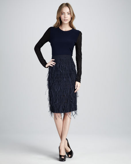 Lacey Feather Skirt