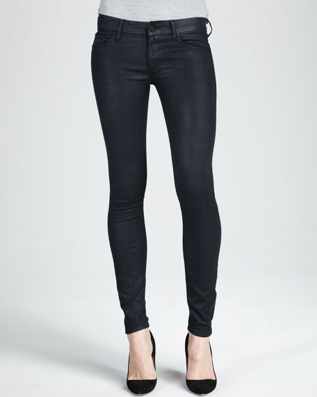 The Looker Black Glimmer Skinny Jeans