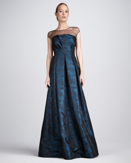 Jacquard Illusion Gown