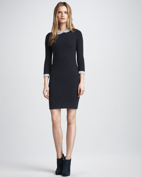 Peter Pan-Collar Sweater Dress
