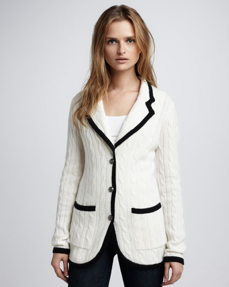 Cable-Knit Cashmere Blazer